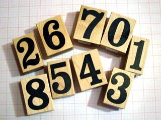 Large Impress Number Set