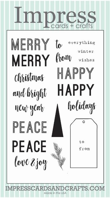 Impress Modern Sentiment Clear Stamp Set