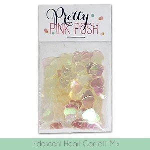 Iridescent Heart Confetti Mix