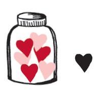 Jar with Heart on Side (1474e)
