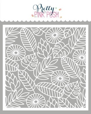 Pretty Pink Posh Jungle Background Stencil