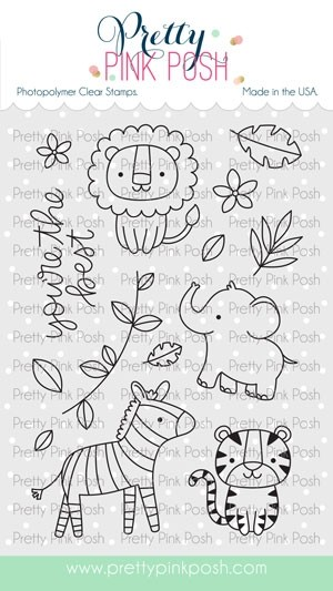 Pretty Pink Posh Jungle Friends Stamp Set