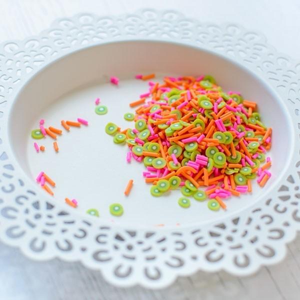 Pretty Pink Posh Kiwi Melon Clay embellishments