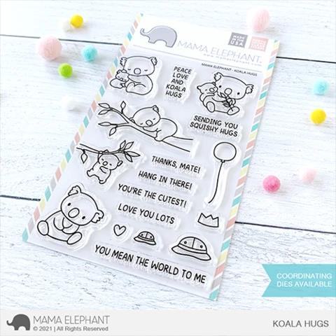 Mama Elephant Koala Hugs Clear Stamp