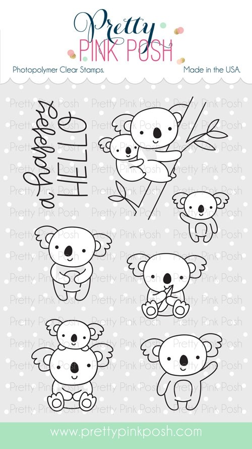 Pretty Pink Posh Koala Friends Clear Stamp Set