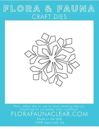 Flora and Fauna Large Snowflake Die 30205