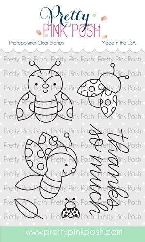 Pretty Pink Posh Ladybug Friends Stamp Set