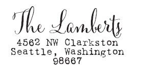 The Lamberts Custom Stamp