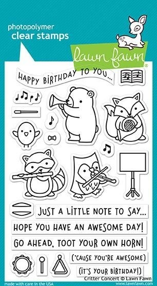 Lawn Fawn Critter Concert Clear Stamp Set