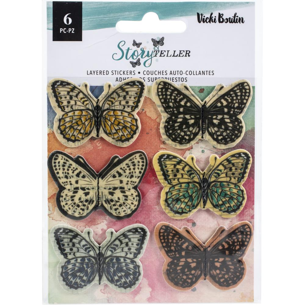 Vicki Boutin Storyteller layered vellum butterfly stickers