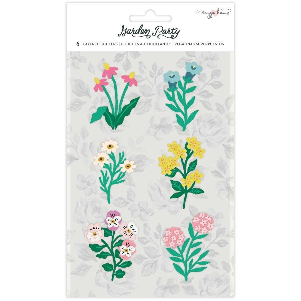 Garden Party Layered Stickers