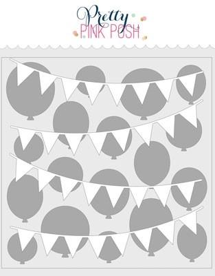 Pretty Pink Posh Layered Birthday Stencils (2 pack)