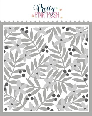 Pretty Pink Posh Layered Leaves & Flowers Stencils (3 Pack)