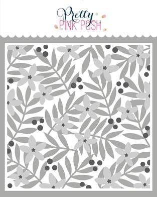 Pretty Pink Posh Flowers Stencils (3 pack)