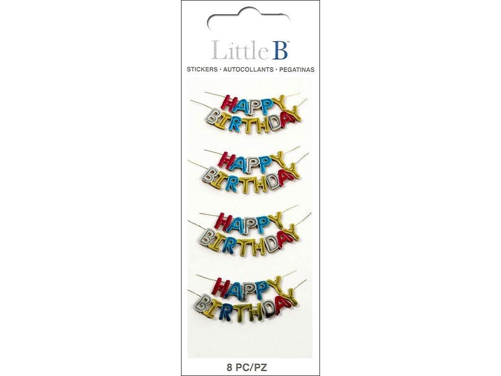 Little B Happy Birthday Stickers