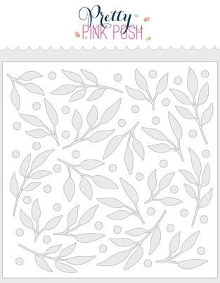 Pretty Pink Posh Leaves & Berries Stencil