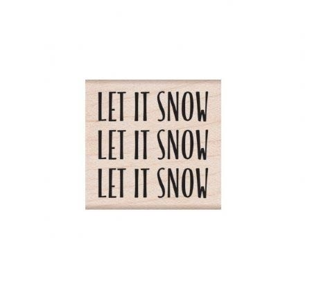 Hero Arts Let it Snow Message D6243