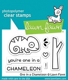 Lawn Fawn One in a Chameleon Clear Stamp Set