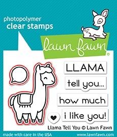 Lawn Fawn llama tell you - lawn cuts