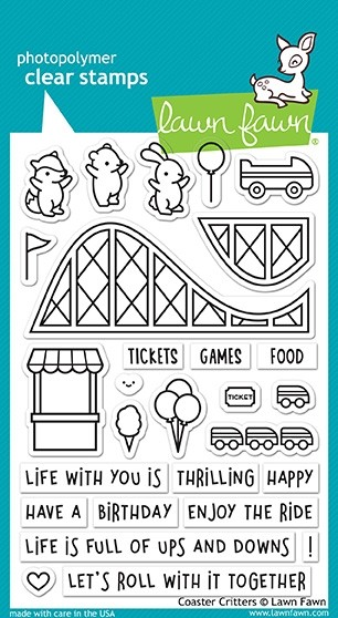 Lawn Fawn Coaster Critters Clear Stamp Set