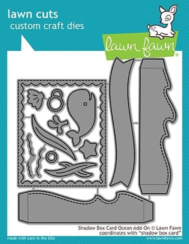 Lawn Fawn Shadow Box Card Ocean add-on