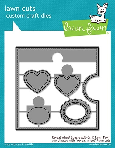 Lawn Fawn reveal wheel square add-on