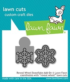 Lawn Fawn  reveal wheel snowflake add-on