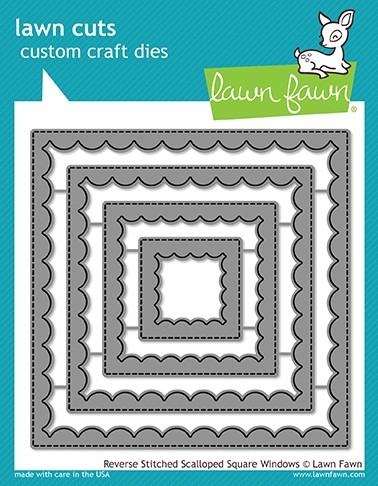Lawn Fawn reverse stitched scalloped square windows