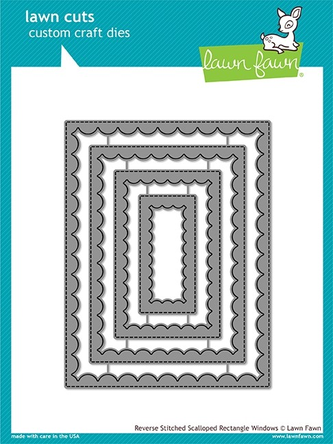Lawn Fawn reverse stitched scalloped rectangle windows