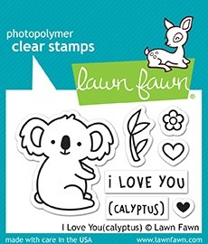 Lawn Fawn I Love You(calyptus) Clear Stamp Set