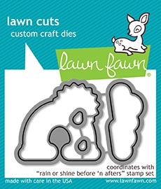 Lawn Fawn rain or shine before 'n afters - lawn cuts