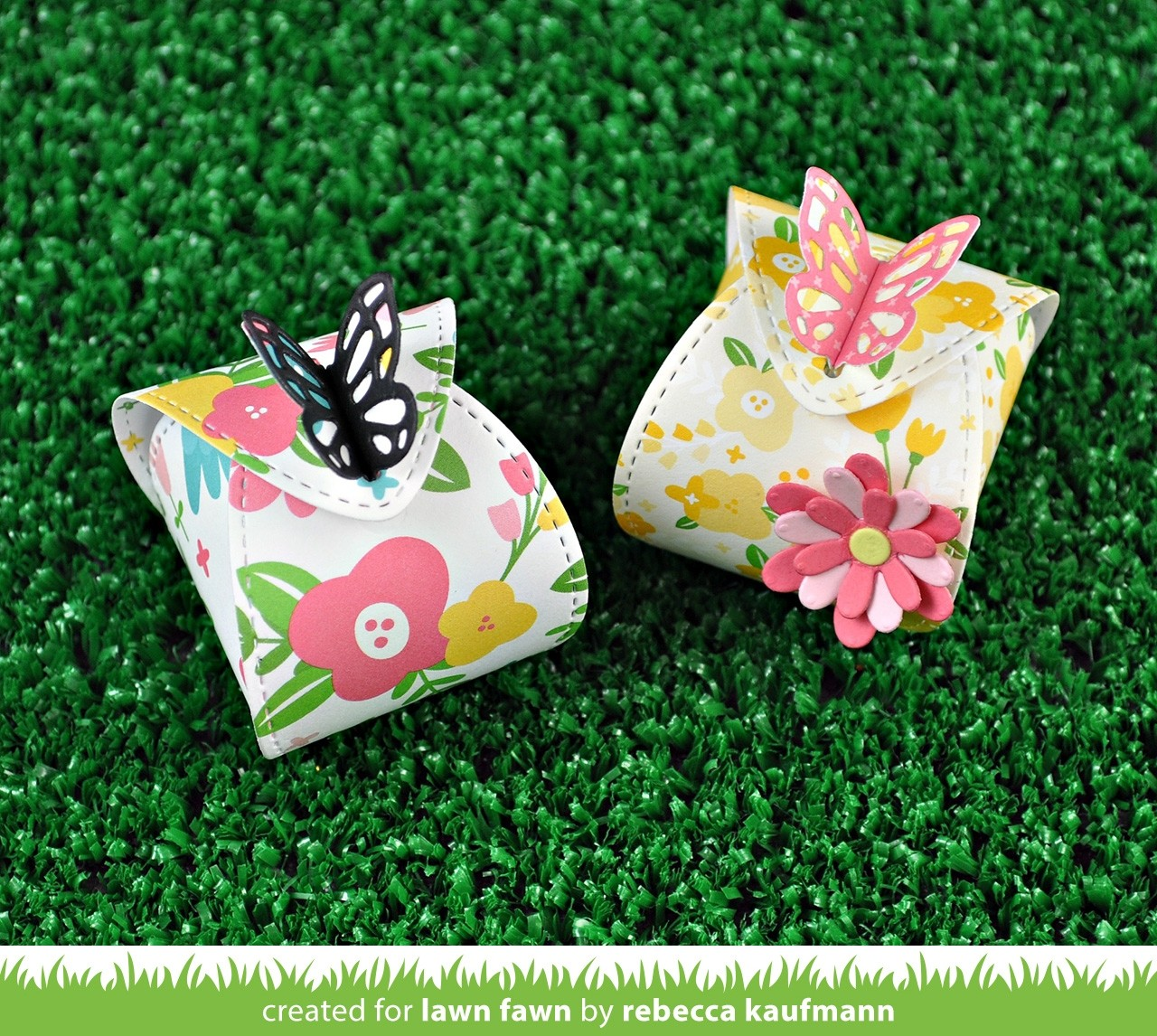 Lawn Fawn butterfly treat box die