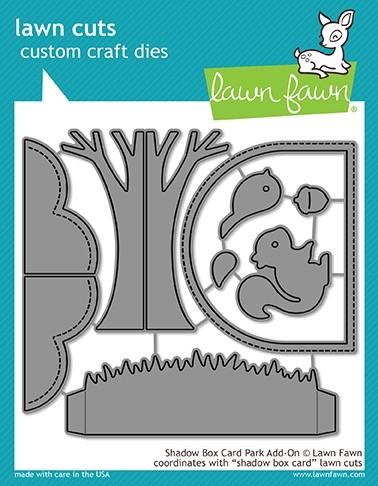 Lawn Fawn shadow box card park add-on
