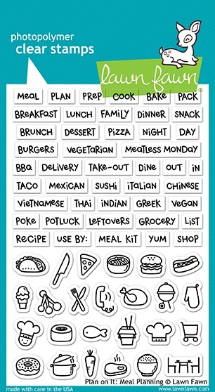 Lawn Fawn plan on it: meal planning stamp set