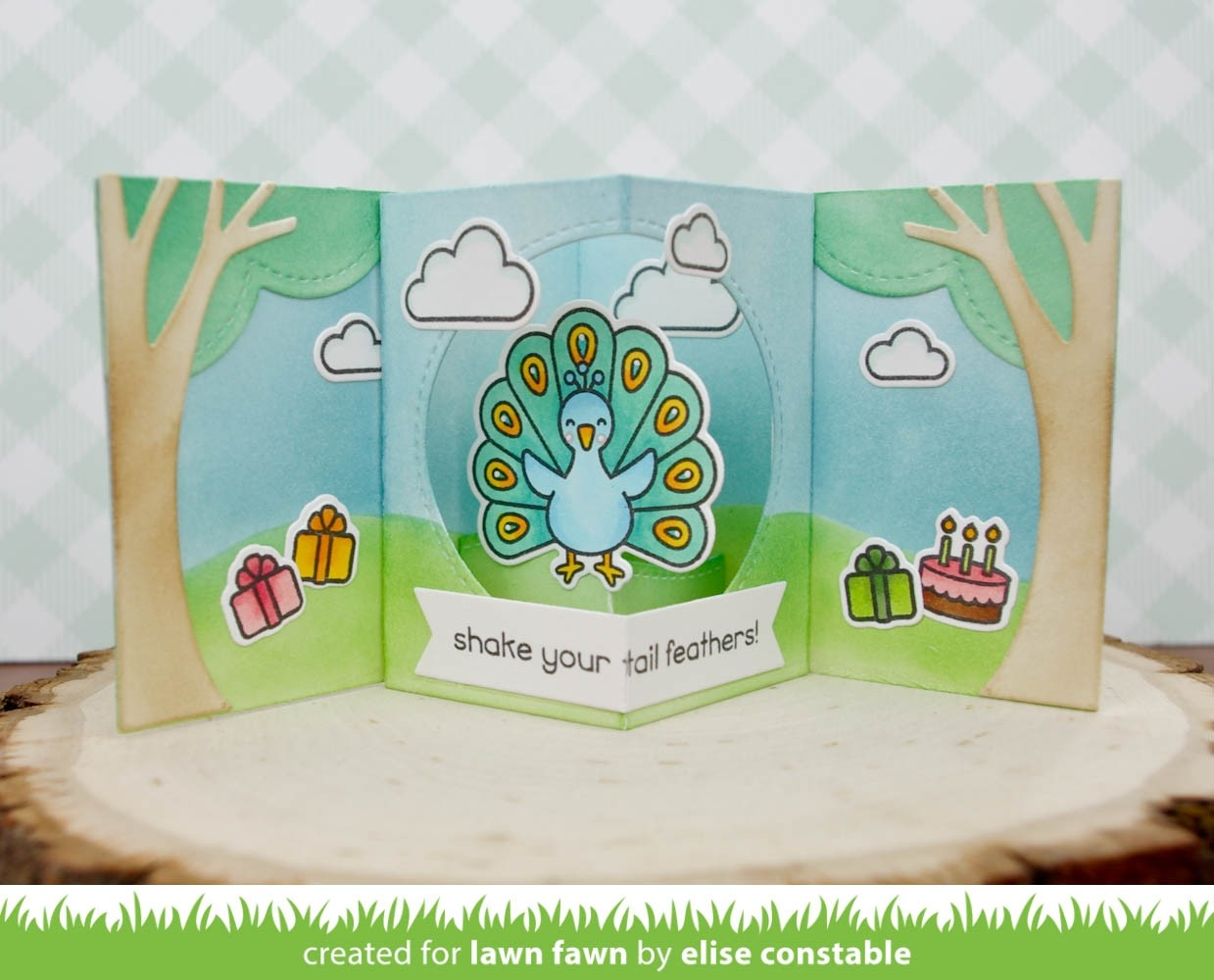 SALE - Lawn Fawn center picture window card