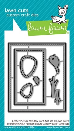 Lawn Fawn center picture window card add-on