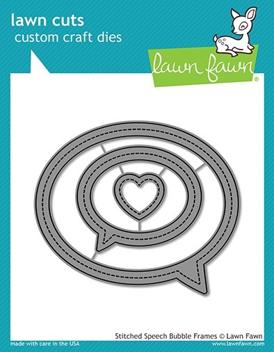 SALE - Lawn Fawn stitched speech bubble frames