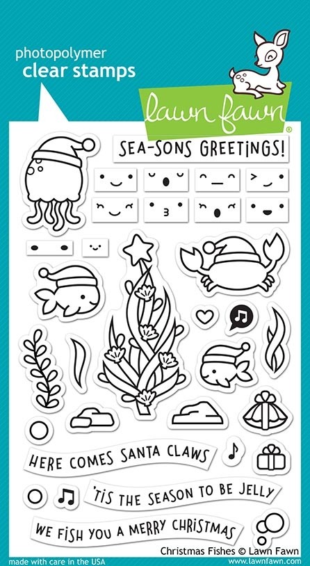 SALE - Lawn Fawn christmas fishes lf2024