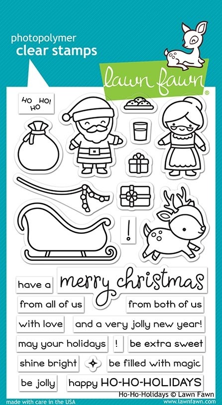SALE - Lawn Fawn Ho Ho Holidays Clear Stamp Set lf2029
