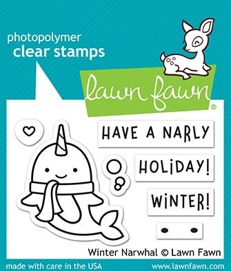Lawn Fawn winter narwhal lf2038