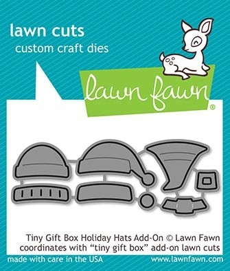Lawn Fawn tiny gift box holiday hats add-on lf2052