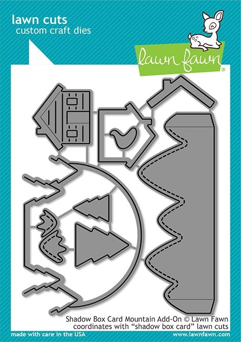 Lawn Fawn shadow box card mountain add-on lf2055