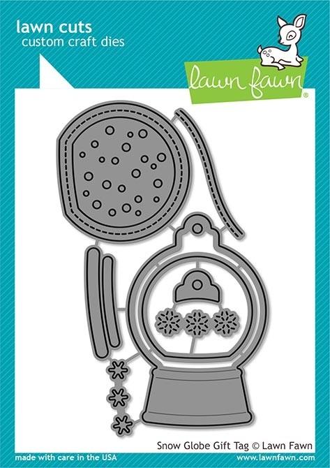 Lawn Fawn snow globe gift tag lf2056