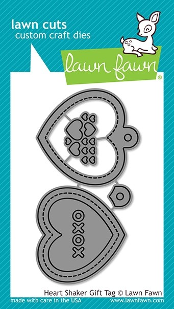 Lawn Fawn Heart Shaker Gift Tag
