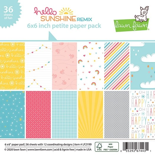Lawn Fawn Hello Sunshine Remix Petite Paper Pack