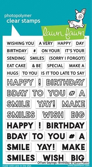 Lawn Fawn Offset Sayings: Birthdays LF2234