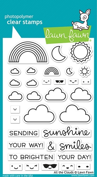 Lawn Fawn All the Clouds Clear Stamp Set LF2331