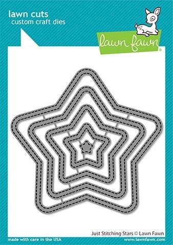 Lawn Fawn just stitching stars LF2362