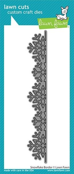 Lawn Fawn Snowflake Border LF2431