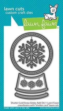Lawn Fawn Shutter Card Snow Globe Add-on LF2434